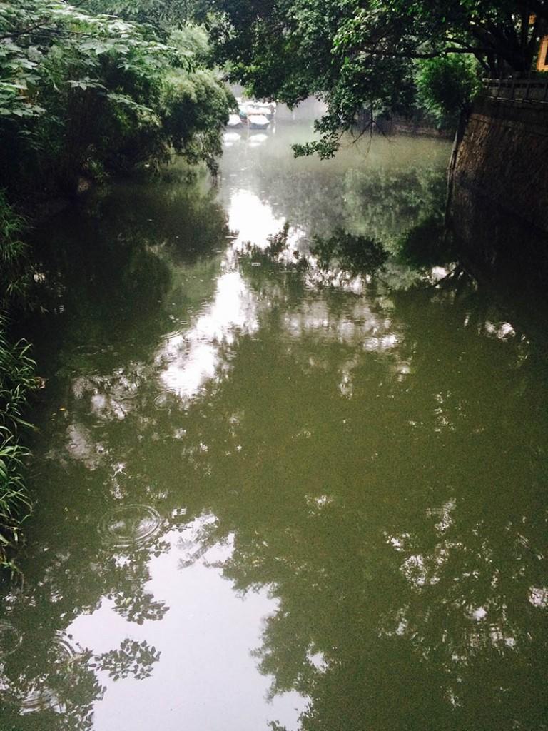 勺园前的小河